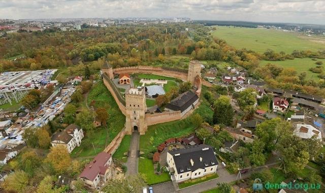 Аерофотопанорама Луцького замку Любарта
