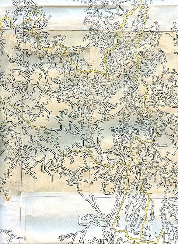 Частина карти катакомб