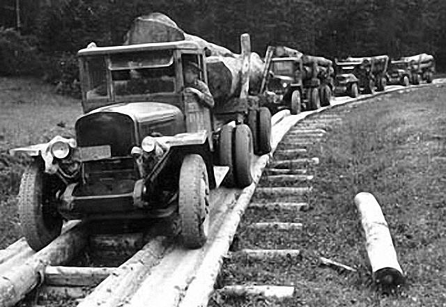 Строительство Киверцивской узкоколейной железной дороги (Киверцовское лесничество)